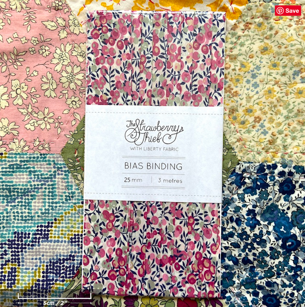 Wiltshire Bud B Liberty of London Bias Binding -20mm - 100% cotton Liberty Tana Lawn - 3m 3.28 Yards