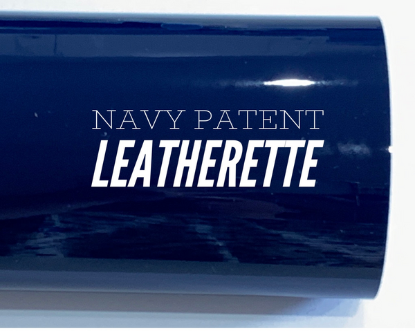 Navy Patent Leather A4 Sheet Glossy Mirror Smooth PU Leatherette Patent