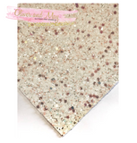 Rose Gold Pixie Dust Glitter Fabric