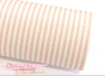 Pink and White Stripe Glitter Fabric 0.9mm A4 Sheets