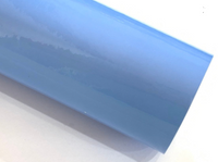 Sky Blue Patent Leather A4 Sheet Glossy Smooth PU Leatherette - 0.75mm