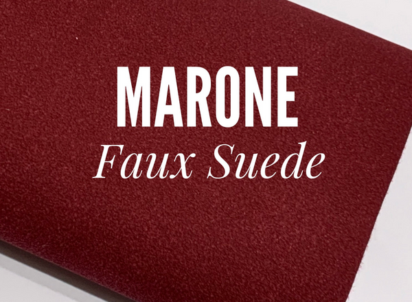 Marone Faux Suede Fabric Sheet