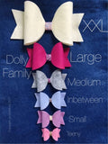 Teeny Dolly Bow with Inbetween Dolly Bow Die - Two in One - In Stock