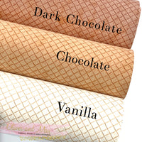 Waffle Faux Leather Fabric Sheets