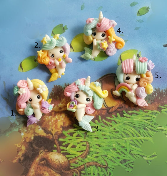 Unicorn Mermaids Bow Clay Pre Order