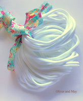 WHITE Nylon Headbands, Soft Nylon Bands, Baby Headbands, DIY Bows, Hair Bow Supplies, DIY Supplies, One Size Fits Most Headbands