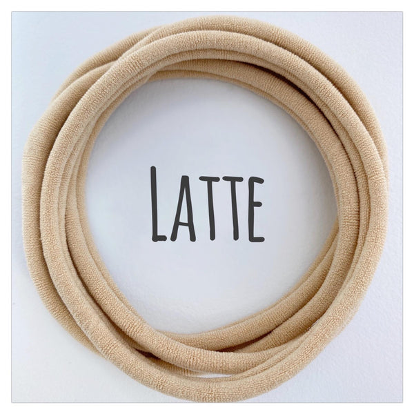 LATTE DAINTIES - NUDE SKINTONE COLLECTION Dainties Super soft headbands from Nylon Headbands UK