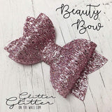 Beauty Bow Die Glitter Glitter on the Wall Designor Die Sizxix Compatible 3 in 1 Bow Die