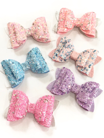 Beauty Bow Die - 3 in 1 Bow Die -  Glitter Glitter in the Wall