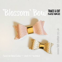"Blossom Bow Trace and Cut PLASTIC TEMPLATE - Two Sizes 2.16"" and 3.16 """