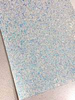 Blue Ice Magic Chunky Glitter Fabric 1.0mm Thickness Sheet A5 orA4 Size Glitter Fabric - 8X11 Glitter Sheet