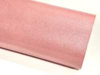Blush Pink Glitter Patent Leather A4 Sheet Mirror Smooth Glitter PU Leatherette
