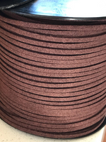 Choc Brown Faux Suede Cord - 5m - Brown Suede Cord