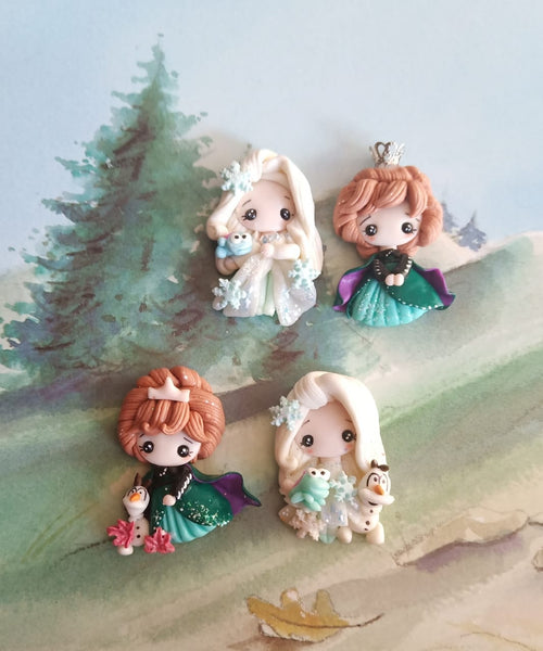 Frozen Elsa and Anna Enchanted Pre Order Bow Clays