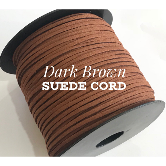 Dark Brown Suede Cord - 5m - Dark Brown Suede Cord