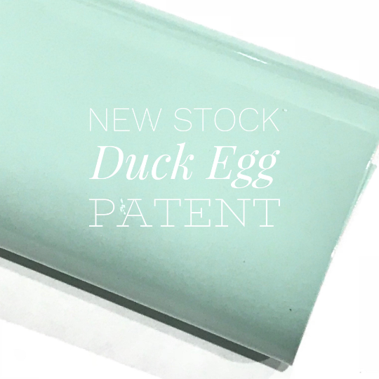 Duck Egg Patent Leather A4 Sheet Glossy Smooth Shiny Patent Leather