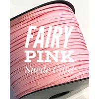 Fairy Pink Faux Suede Cord - 5m - Fairy Pink Suede Cord
