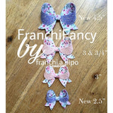 FranchiFancy Bow Die - 4 Sizes across choice of 2 Dies