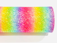Bright Rainbow Chunky Glitter Fabric Sheets - Choice of 3 colours