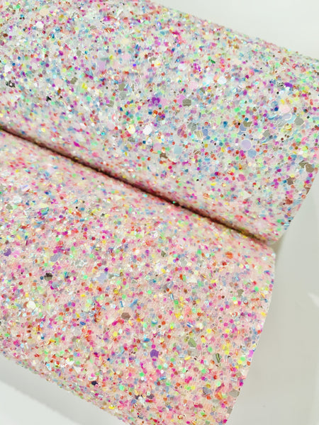 Ice Cream Confetti Sprinkles Chunky Glitter Fabric - 2 Pack Bundle also no available