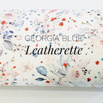 Georgia Blue Floral Faux Leatherette - Custom Print