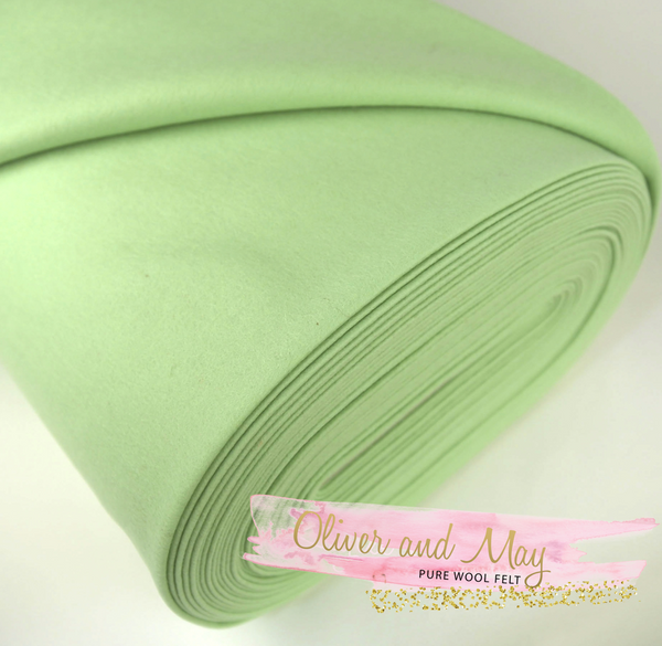 Granny Smith Merino Pure Wool Felt 1mm A4 Sheet - No. 47 - Chemical Free Pure Wool Felt - Steiner Craft Felt