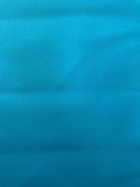 Ocean Blue Leatherette Sheet Thin 0.7mm  A4 or A5 Size Aqua Faux Leather Fabric Turquoise Small Lychee Pattern PU Leather Thin Leatherette