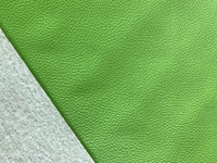 Green Leatherette Sheet Thin 0.7mm  A4 or  A5 Size Green Faux Leather Fabric  Small Lychee Pattern PU Leather Thin Leatherette