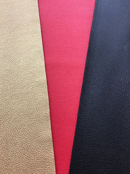 Gold -Red -Black 3 Pack Leatherette Sheets Thin 0.7mm