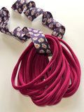 WINE RED Nylon Headbands, Soft Nylon Bands, Baby Headbands, DIY Bows, Hair Bow Supplies, DIY Supplies, One Size Fits Most Headbands