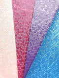 Raspberry Pink Honeycomb Leatherette Satin Finish 0.7mm Thin A4 / A5 Sheet Faux Leather Fabric Honeycomb Pattern PU Leather Thin Leatherette