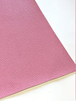 Candy Pink Leatherette Sheet A4 8X11 or A5 Size Pink Faux Leather Fabric Pink PU Leather Thick 1.2mm Litchi Print Leatherette