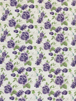 Purple Floral Roses Printed Leather Fabric Sheets Floral PU Leather A4 Sheet 210 x 297mm Floral Leather Bows Floral Leather Headbands