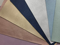 Pearl Gold Leatherette 1.2mm Thickness Lychee Print Gold Faux Leather Fabric Sheets