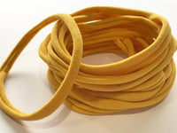 MUSTARD Thin Wholesale Nylon Headbands 6mm Thin 26cm Super Stretchy Baby Toddler Adult Bulk Nylon Headbands | MUSTARD | Australian Seller