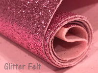 NEW Glitter Felt Pink Glitter Felt Sheet Pink Glitter Powder Felt backed Fabric for Hair Bows and Craft