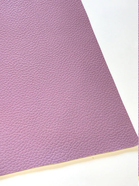Lilac Purple Leatherette Sheet A4 8X11 or A5 Size Violet Faux Leather Fabric Mauve PU Leather Thick 1.2mm Litchi Print Leatherette