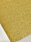 Fine Gold Glitter Fabric Sheet Thin 0.6mm A4 or A5