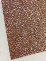 Rose Gold Matching Backing Chunky Premium Glitter Fabric Sheet 0.9mm Thick A4 or A5 Sheets Chunky Rose Gold Glitter Chunky A4 A5 Sheets