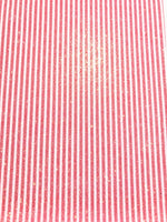 Red & White Stripe Glitter Fabric 0.9mm A4 Sheets
