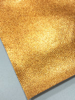 Orange Metallic Leatherette Sheet  A4 1.1mm Thick