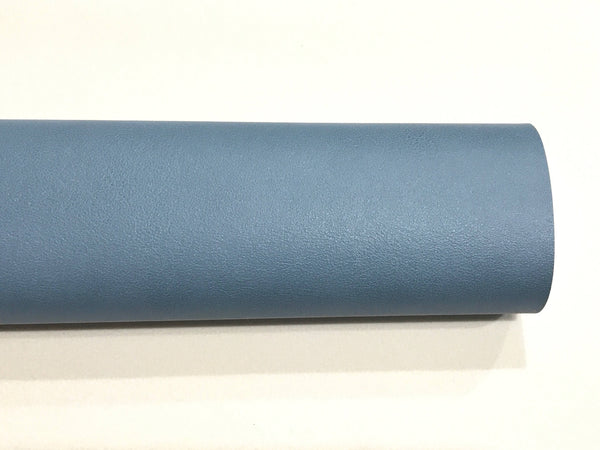 Grey Blue Smooth Leatherette A4 Faux Leather fabric