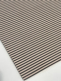 Taupe and Black Stripe Leatherette Sheet Stiffer 0.8mm Thickness A5 A4 Size Faux Leather Fabric