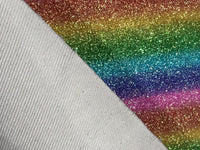 Fine Glitter Carnivale Rainbow Leather Fabric Sheet 0.8mm