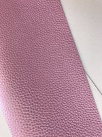 Lilac Pearl Leatherette 1.2mm Thickness Lychee Print Soft Lilac Pink Faux Leather Fabric Sheets