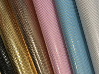 Gold Mermaid Scales Thin 0.9mm Leatherette Fabric Sheet