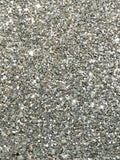 Chunky Silver Glitter Fabric Sheet 0.7mm Thick A4 or A5 Sheets Chunky Silver Glitter A4 Sheet