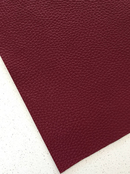 Marone Textured Leatherette Sheet Thick 1.0mm Litchi Print Leatherette
