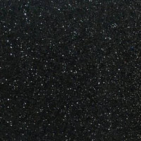 Fine Black Glitter Leather Fabric Sheet Thin 0.6mm A4 or A5 Sheet