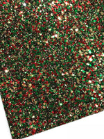 Christmas Tree Chunky Hexagonal Glitter Fabric